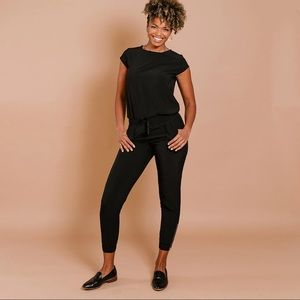 Albion Fit Black Jumpsuit Size Extra Extra Small